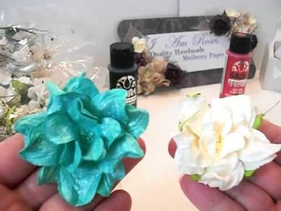 """I Am Roses Project 1 - """"Metallic"""" Flowers Altered Box"""