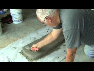 Making a Concrete Bench Part 2 -- The Plank.mpg