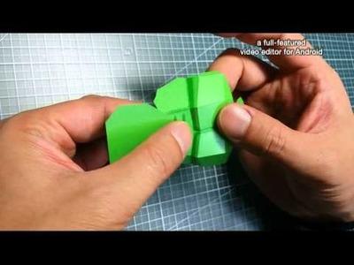 Making Highlight of Lego Hulk Paper Toy