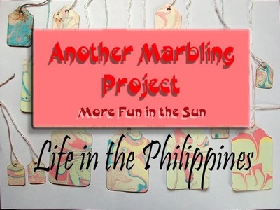 Making marbled paper tags with Philippine Carrageenan Seaweed