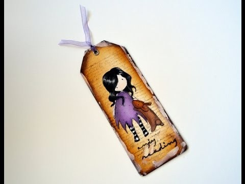 Marcapáginas decorado - DIY bookmark