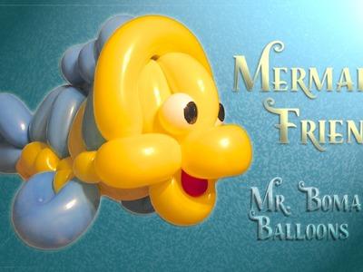 Mermaid's Friend Fish Balloon Animal Tutorial (Balloon Twisting and Modeling #17)
