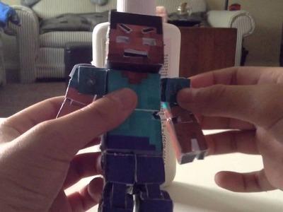 Minecraft papercraft bendable steve (element animation)