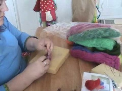 Needle Felting Gnomes Handwork
