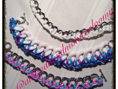 **NEW**Adding Rainbow Loom Bands to your Chains Tutorial
