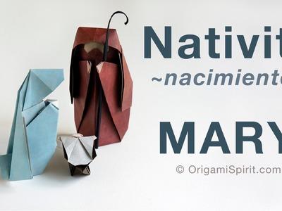 Origami Nativity -MARY :: Pesebre -MARIA