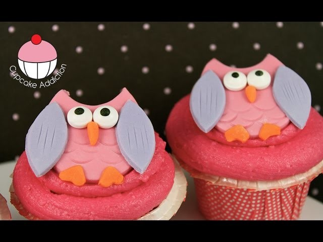 Owl Cupcakes  - Easy Cake Toppers with Cupcake Addiction