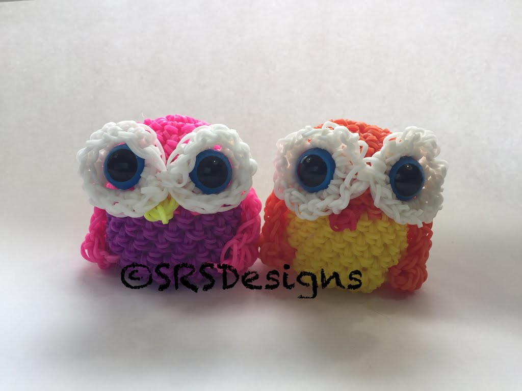 Owl Tutorial Rainbow Loom Loomigurumi.Amigurumi Hook Only