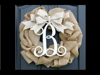 Pinterest Win Or Fail? {Burlap Wreath}