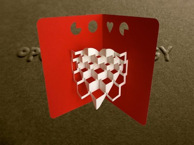 Pop Up Valentine's Kinetic Heart Card #2 Tutorial - Origamic Architecture