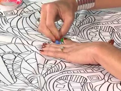 Quilt Show Tutorials: Fabric Painting with Pencils