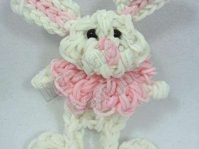 Rabbit | Bunny Charm Figure using the Rainbow Loom