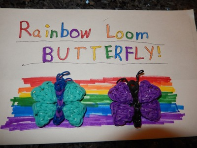 Rainbow Loom Butterfly Charm Tutorial by Vanessa