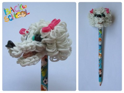 Rainbow Loom poodle pencil topper Loombicious