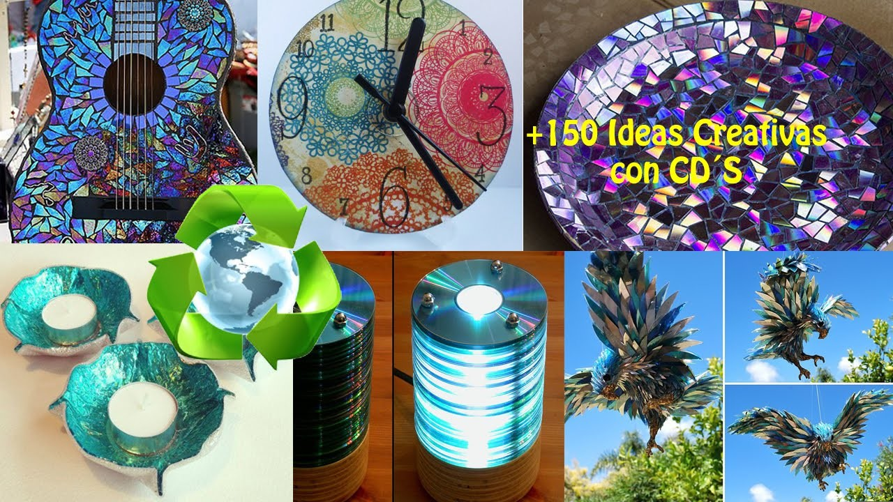 Reciclaje CD´s +150 Ideas. Recycling CDs +150 Ideas.