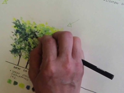 Rendering trees using colored pencil