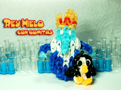Rey Hielo con gomitas. Ice King . Adventure Time. Rainbow loom.