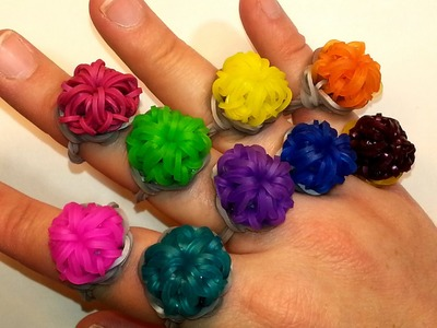 Round Bling Ring Tutorial by feelinspiffy (Rainbow Loom)