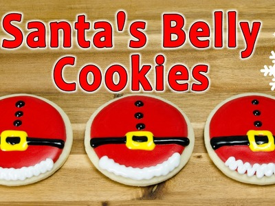 Santa's Belly Christmas Cookies by Cookies Cupcakes and Cardio