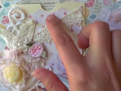 Shabby Chic Recipe Mini Album - Queen of the Kitchen