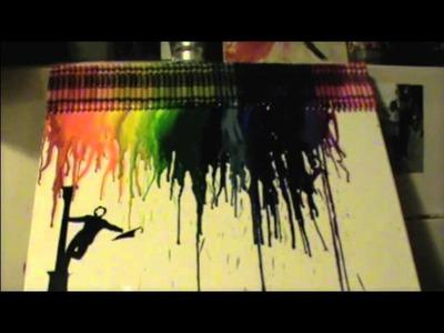 Singin' in the rain crayon art