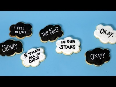 The Fault in Our Stars Cookies   Just Add Sugar