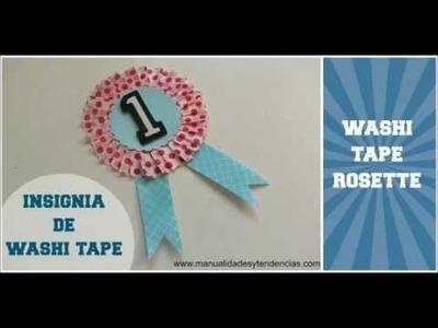 Washi tape: Insignia. DIY Rosette