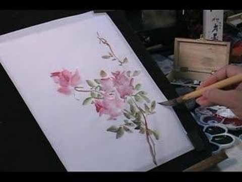 Watercolor Painting Tutorial: Roses and Butterfly