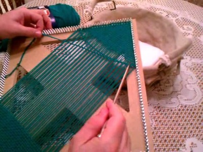 Weaving on Square Loom