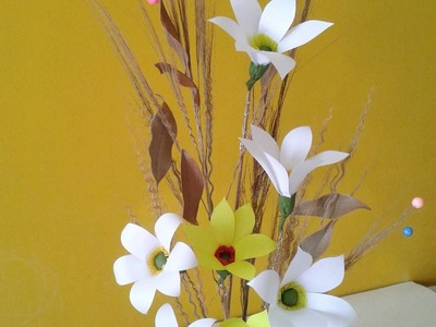 Best Out of Waste Craft: How to make paper flower bunch