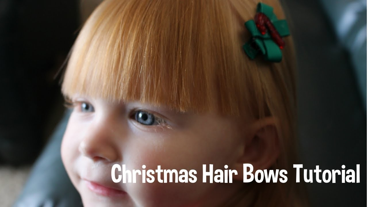 Christmas Hair Bows Tutorial - DIY!
