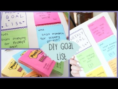 DIY Back to School Weekly Goal List #DIYwithPXB