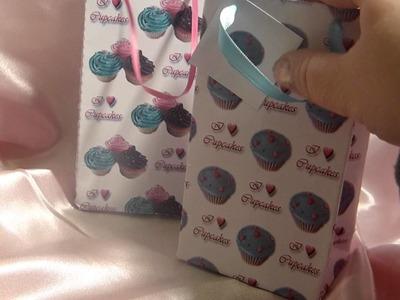 Handmade Cupcake Paper Gift Bags