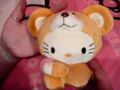 HelloKittyGoodies - Hello Kitty In Bear Costume Dangling Plush