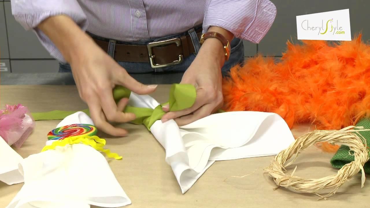 How to create unique napkin treatments