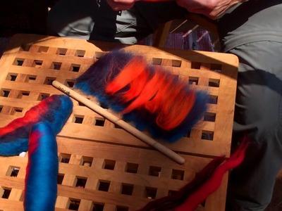 How to Make a Fiber Rolag with a Dowel