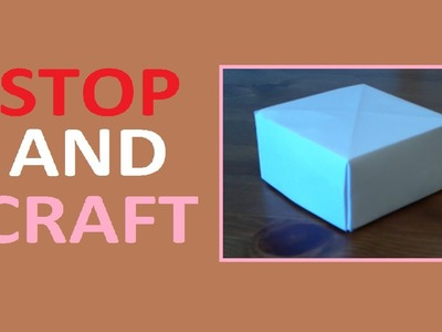 How to Make a Paper Box no Glue Needed!