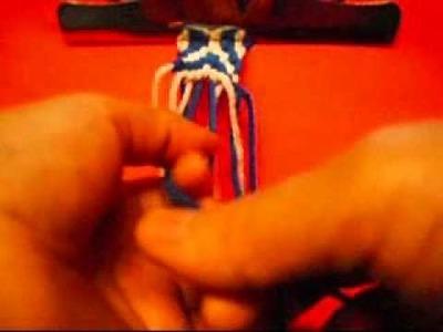 How To Make  Arrowhead Friendship Bracelet-1