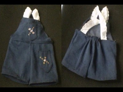 How to make overalls for your doll  part 1
