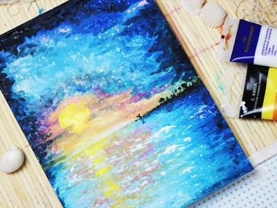 Let's paint: A Sunset at the Beach - Painting with mako