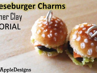 Miniature Polymer Clay Cheeseburger Charms Tutorial