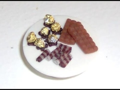 Polymer Clay Miniature - Chocolate Ferrero Rocher