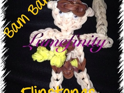 Rainbow Loom bands Bamm Bamm - Flinstones Figure Charm by Lumefinity  - How to