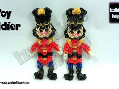 Rainbow Loom (Christmas.Xmas) Nutcracker Toy Soldier Action Figure.Charm.Ornament