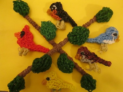 Rainbow Loom Mobile: Basic Technique and Branch Mobile.