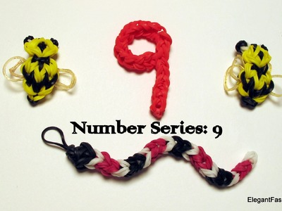 Rainbow Loom Number 9 - How to - Number Series