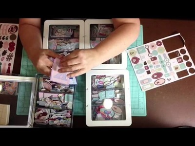 Scrapbook Room Tour: Organizing cut apart letters with Ikea bins