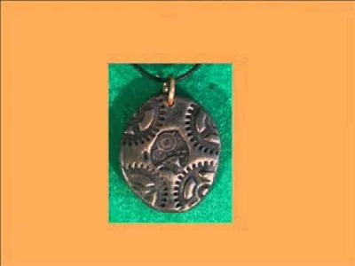 Steampunk Jewelry in Polymer Clay
