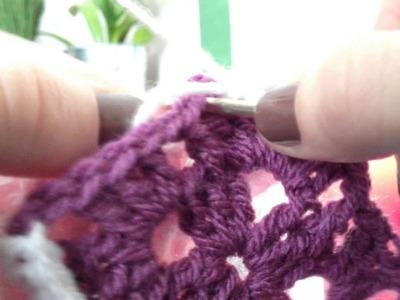 Teil 2 Mini-Granny-Square Babydecke häkeln