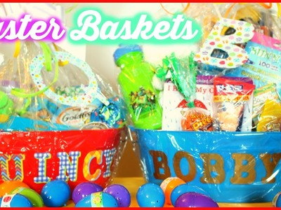 WHAT'S IN THE BOYS EASTER BASKETS |DOLLAR TREE BASKET IDEAS | Sensational Finds
